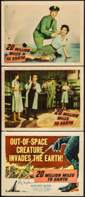 """Movie Posters:Science Fiction, 20 Million Miles to Earth (Columbia, 1957). Autographed Title Lobby Card & Lobby Cards (2) (11"""" X 14""""). Science Fiction.. ... (Total: 3 Items)"""