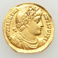 Ancients:Roman Imperial, Ancients: Valentinian I (AD 364-375). AV solidus (20mm, 3.81 gm, 5h). Fine, clipped, graffito, edge filed....