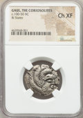 Ancients:Celtic, Ancients: GAUL. Coriosolites. Ca. 100-50 BC. BI stater (24mm,7h). NGC Choice XF....