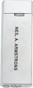 """Explorers:Space Exploration, Neil Armstrong: American Fighter Pilots Association Personalized """"Neil A. Armstrong"""" Butane Gas Lighter in the Original Box Di..."""