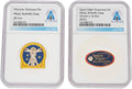 Explorers:Space Exploration, Neil Armstrong: Pair of Space Related Pins Directly From The Armstrong Family Collection™, Certified and Encapsulated by Colle... (Total: 2 Items)