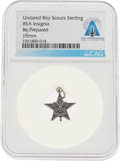 """Explorers:Space Exploration, Boy Scouts: Sterling """"Be Prepared"""" Charm Directly From The Armstrong Family Collection™, Certified and Encapsulated by Collect..."""