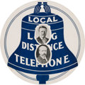 Political:Small Paper (1896-present), Theodore Roosevelt and Alton B. Parker: Telephone Company Advertising Tag. ...
