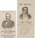 Political:Small Paper (pre-1896), Rutherford B. Hayes and Winfield Scott Hancock: Trade Card and Ballot. ... (Total: 2 Items)