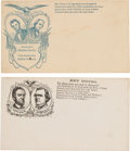 Political:Small Paper (pre-1896), Lincoln & Johnson: Pair of Jugate Campaign Covers. ... (Total:2 Items)