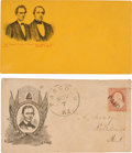 Political:Small Paper (pre-1896), Abraham Lincoln: Pair of 1860 Campaign Covers. ... (Total: 2 Items)