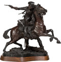 Sculpture, James Nathan Muir (American, b. 1945). Rescue Under Fire, 1980. Bronze with brown patina. 22 inches (55.9 cm) high on a ...