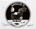 Autographs:Celebrities, Apollo 11 Crew-Signed Original 1969 NASA Mission Insignia Photo....