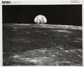 Autographs:Celebrities, Neil Armstrong Signed Original 1969 NASA Apollo 11 Earthrise-type Photo. ...
