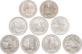 Explorers:Space Exploration, Apollo 11 Coins: Group of Nine Crowns from Gibraltar and Isle of Man. ...