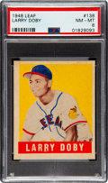 Baseball Cards:Singles (1940-1949), 1948 Leaf Larry Doby #138 PSA NM-MT 8 - None Higher! ...