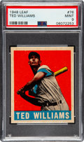 Baseball Cards:Singles (1940-1949), 1948 Leaf Ted Williams #76 PSA Mint 9 - None Higher! ...
