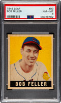 Baseball Cards:Singles (1940-1949), 1948 Leaf Bob Feller #93 PSA NM-MT 8 - Pop Six, None Higher! ...