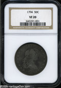 Early Half Dollars: , 1794 50C VF20 NGC. O-101, R.4. The O-101 is now thought to be oneof the last varieties of the 1794 Half Dollar to be coine...