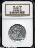 Seated Half Dollars: , 1861-S 50C AU58 NGC. A bold and untoned example, void of relevantcontact although the upper reverse has a hint of granular...