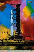"Explorers:Space Exploration, Buzz Aldrin and Peter Max Signed ""Apollo 11 - Launch Complex 1969/1999"" Print, Originally from Aldrin's Personal Collection...."