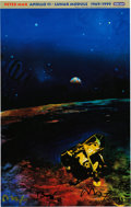 "Explorers:Space Exploration, Buzz Aldrin and Peter Max Signed ""Apollo 11 - Lunar Module 1969/1999"" Print, Originally from Aldrin's Personal Collection. ..."