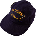 Explorers:Space Exploration, Apollo 11 U.S.S. Hornet Original Recovery Hat Originally from the Estate Collection of NASA Flight Director Brock ...