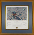 """Explorers:Space Exploration, Alan Bean Signed Limited Edition """"In Flight"""" Print, #588/850, also Signed by the Apollo 14 Crew, in Framed Display. ..."""
