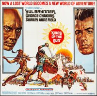 "Kings of the Sun (United Artists, 1963). Six Sheet (80"" X 79"") Frank McCarthy Artwork. Adventure"