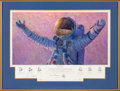 "Explorers:Space Exploration, Alan Bean Signed Limited Edition ""Hello Universe"" Print, #AP 12/100, also Signed by Gene Cernan and Edgar Mitchell, in Framed ..."