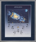 "Explorers:Space Exploration, Alan Bean Signed Limited Edition ""Houston, We Have a Problem"" Print, #823/1000, Signed by the Surviving Apollo 13 Crew and the..."