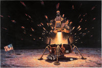 """Alan Bean Signed Limited Edition """"The Eagle is Headed Home"""" Giclée Canvas Print, #64/150"""