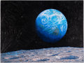 "Explorers:Space Exploration, Alan Bean Signed Limited Edition ""The Source of Intelligent Life"" Textured Giclée Canvas Fine Art Edition, #58/145. ..."