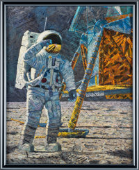 """Alan Bean """"Distant Celebration"""" Limited Edition Collector's Set with Signed & Numbered Slipcased Painting..."""