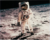 """Buzz Aldrin Signed Large Apollo 11 Lunar Surface """"Visor"""" Color Photo Originally from His Personal Collection..."""