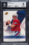 Football Cards:Singles (1970-Now), 2000 Upper Deck SPX Tom Brady #130 BGS Mint 9 - Numbered 761/1350 - .5 Away From BGS Gem Mint 9.5....