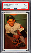 Baseball Cards:Singles (1950-1959), 1953 Bowman Color Yogi Berra #121 PSA Mint 9 - None Higher....