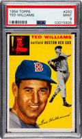 Baseball Cards:Singles (1950-1959), 1954 Topps Ted Williams #250 PSA Mint 9 - Only One Higher....
