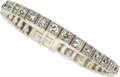 Estate Jewelry:Bracelets, Art Deco Diamond, Platinum Bracelet, Black, Starr & Frost. ...