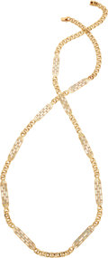 Estate Jewelry:Necklaces, Diamond, Mother-of-Pearl, Gold Necklace. ...