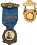 "Political:Ribbons & Badges, William Howard Taft: Nice ""Wesleyan Taft Day"" One-Day-Event Badge.... (Total: 2 Items)"