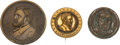 Political:Tokens & Medals, Ulysses S. Grant: Trio of Brass Shell Badges. ...