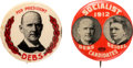 Political:Pinback Buttons (1896-present), Eugene V. Debs: 1912 Jugate and Picture Pin.... (Total: 2 Items)