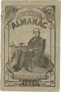 Political:Small Paper (pre-1896), Henry Clay: 1844 Almanac in Pictorial Wraps....