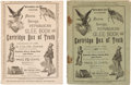 Political:Small Paper (pre-1896), Benjamin Harrison: Two Different Editions of Song Books in Pictorial Wraps.... (Total: 2 Items)