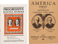 Political:Small Paper (1896-present), Roosevelt & Johnson and Harding & Coolidge: JugateSongsters.... (Total: 2 Items)