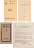 Political:Small Paper (1896-present), Woman's Suffrage: Four Pieces of Ephemera.... (Total: 4 Items)