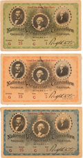 Political:Small Paper (1896-present), Theodore Roosevelt: 1912 National Progressive Convention Tickets.... (Total: 3 Items)
