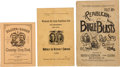 Political:Small Paper (pre-1896), James G. Blaine and William McKinley: Trio of Songsters.... (Total:3 Items)