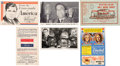 Political:Small Paper (1896-present), Wendell Willkie et al: Six Uncommon Postcards....