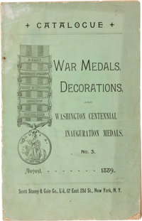 Scott Stamp Company: 1889 Catalog of War Medals and Washington Centennial Medals
