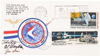 """Apollo 15 Lunar Module Flown Crew-Signed """"Sieger"""" Cover #154, with Signed and Notarized Certification"""