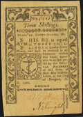 Colonial Notes:Rhode Island, Rhode Island May 1786 3s Extremely Fine.. ...