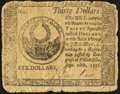 Continental Currency September 26, 1778 $30 Fine