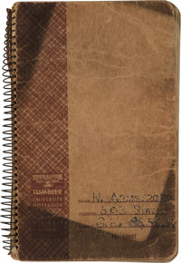 Purdue University: Neil Armstrong's Handwritten Notebook for General Engineering Classes Directly From The Armstro